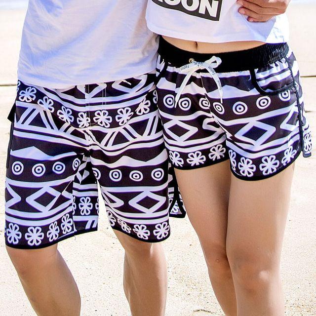 508a80ba779b1 Couple Shorts 2018 New Fashion Hawaii Summer Board Shorts Lovers Swimwear  Beach Surfing Men/Women BoardShorts Swimming Trunks Bermuda Masculina