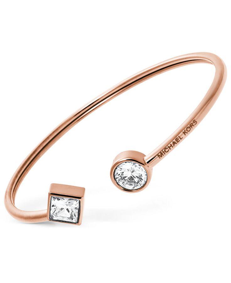 Michael Kors Flexible Open Cuff Bracelet - Michael Kors - Jewelry & Watches - Macy's