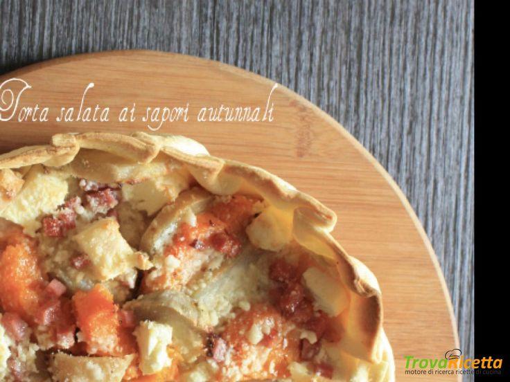 Torta salata ai sapori autunnali  #ricette #food #recipes