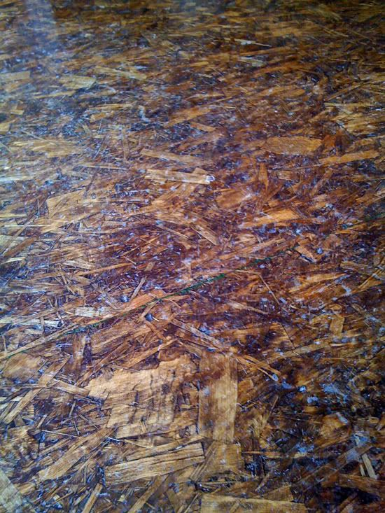 Stained osb floor subfloor pinterest the