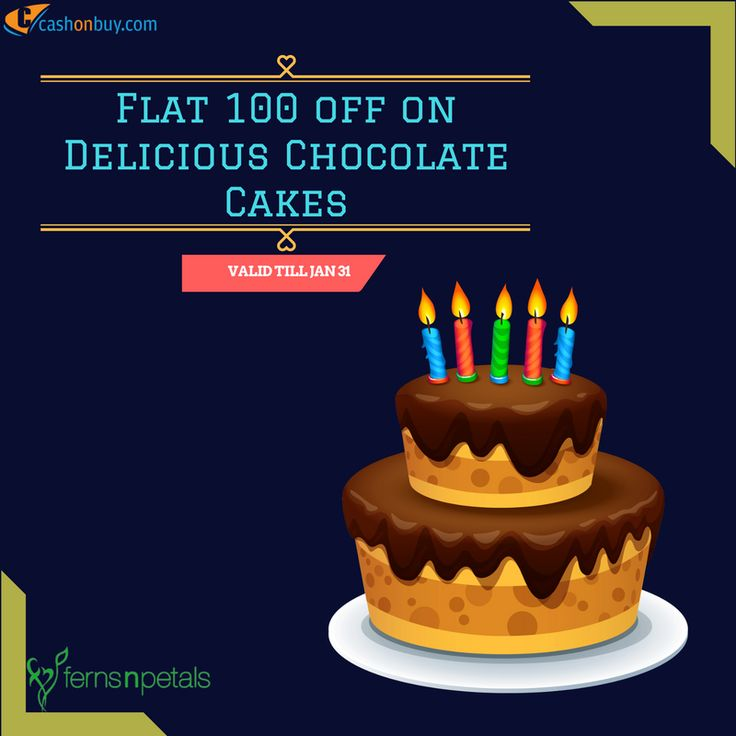 Get #Flat 100 off on #Delicious #Chocolate #Cakes #cashonbuy #cashback #comparison #discount #price_comparison #shopping #lifestyle #likeforlike #cool #likeus #followus http://www.cashonbuy.com/offers