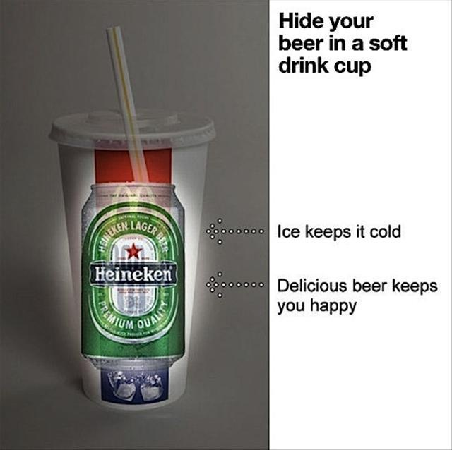 PURE GENIUS.Thoughts, Like A Boss, Good Ideas, Beer, Cups, Beach Parties, Funny, Soft Drinks, Fast Food