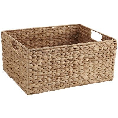 Basic Water Hyacinth Baskets For Under The Bench Kitchen