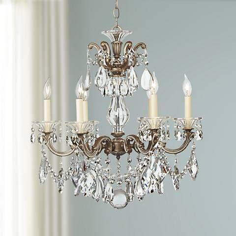 Schonbek La Scala Six Light Crystal Chandelier - #07569 | Lamps Plus