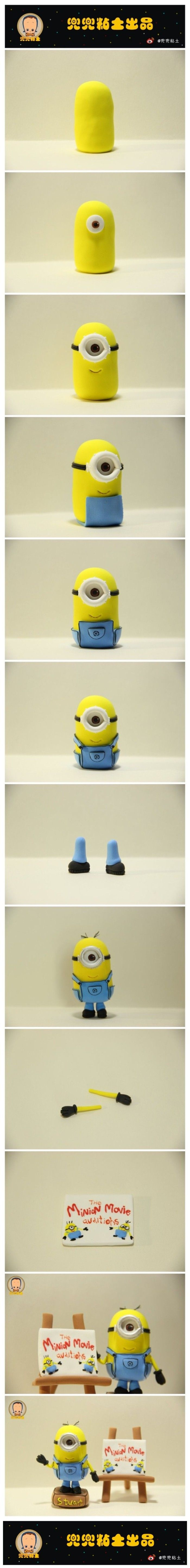 [Tutorial] small yellow twists clay people -