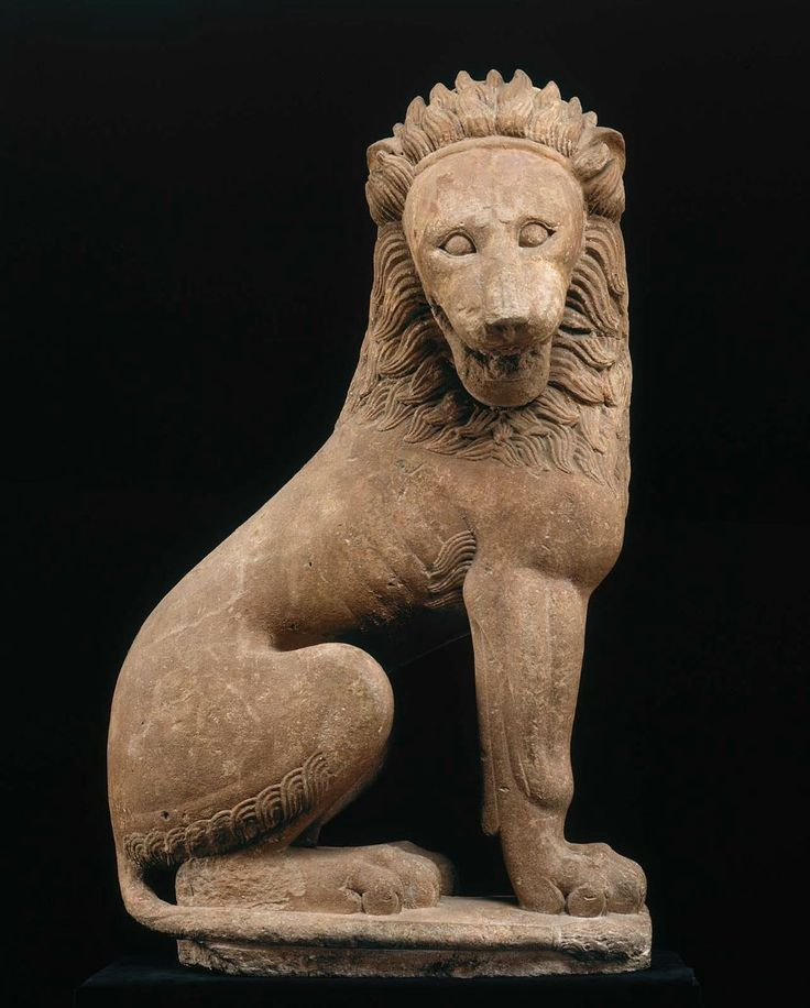 "Greek c 500 BCE  --- I love ancient statues of lions. I should pin all the ones I photographed in Italy   Greek c. 500 BCE  Kind of surprised that they aren't using ""BCE"" on the website."