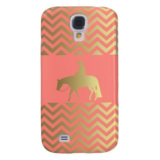 Golden Western Pleasure Horse Samsung Galaxy S4 Case #WesternShowHorse #HorsePhoneCase