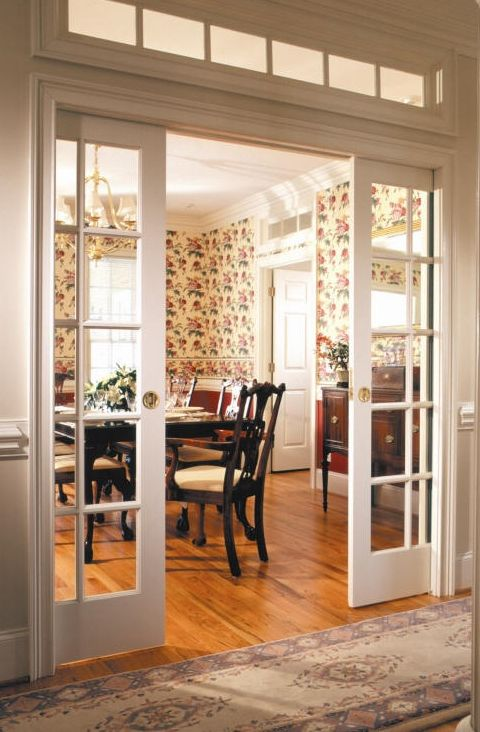 French glass pocket doors!