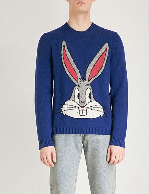 04c3590979e GUCCI Bugs Bunny knitted wool sweater