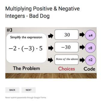 Integer Operations – Bad Dog Breakout Bundle for Google Classroom