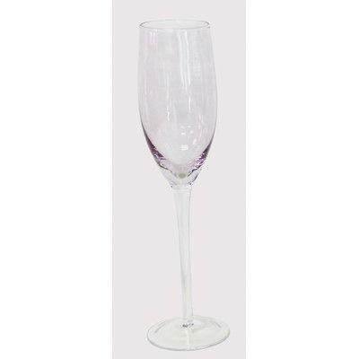 EuroCeramica Champagne Glass Color: Purple