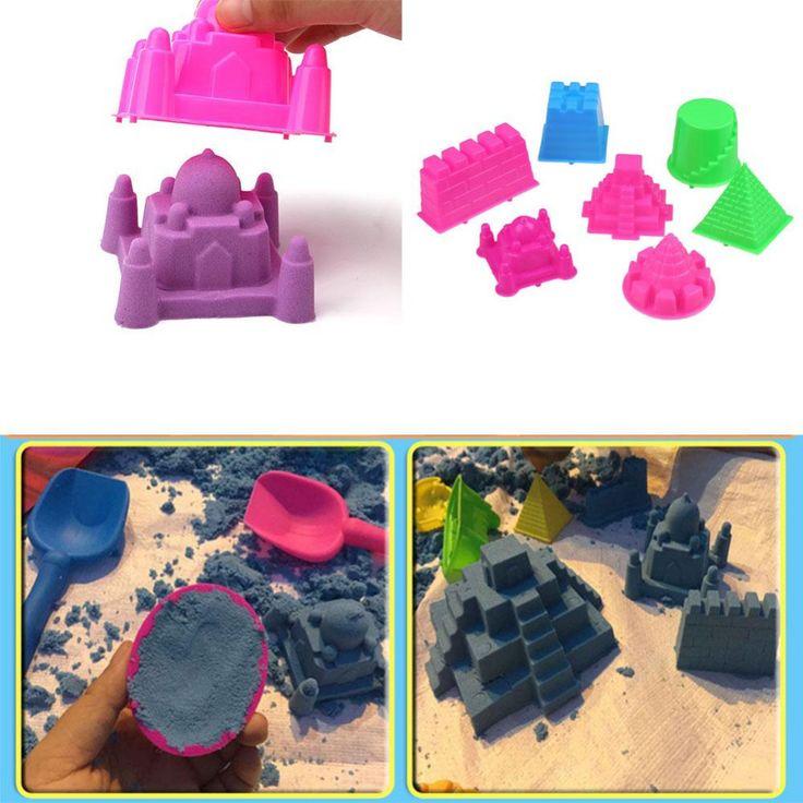 2016 Hot Sale 7Pcs/Set Large Size Portable Sandcastle Beach Sand Toy Castle Sand Mold For Children Building Sight