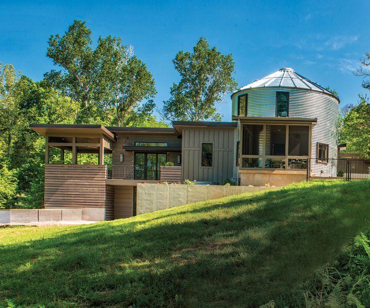 Eclectic Urban Farmhouse Grain bin house, Silo house
