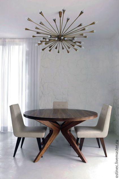 Стол хотелось бы видеть деревянный, круглый или прямоугольный - не критично.