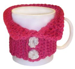 crochet mug sweater... not as cute as the cable knit one...