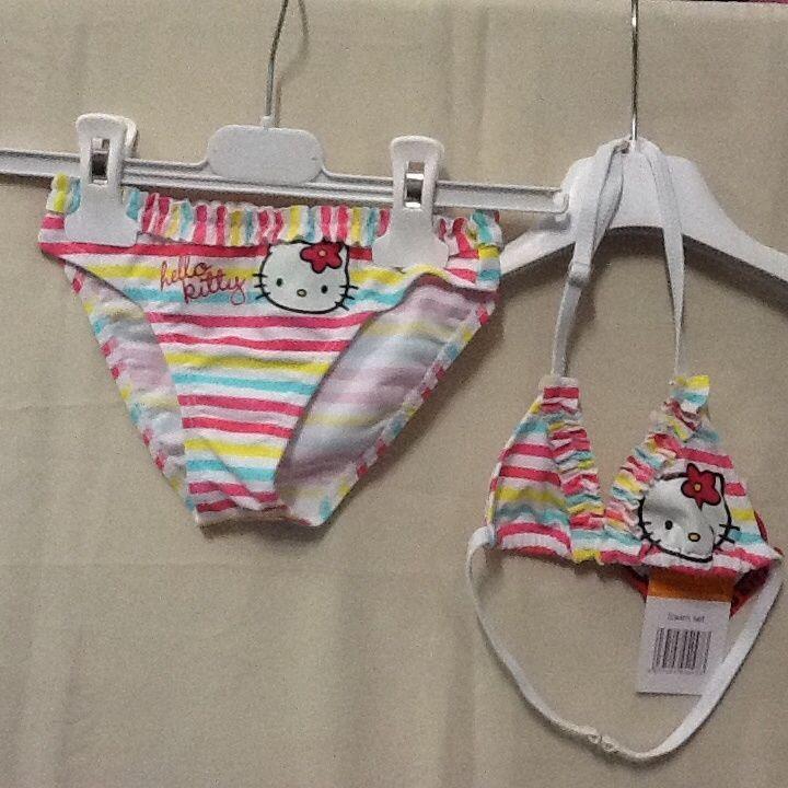 Costume da bagno mare piscina bambina Hello Kitty due pezzi colorato 8 anni
