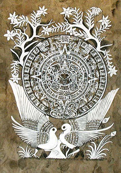 Atelier Fazendo Arte DMC: A ARTE MEXICANA DA PINTURA EM PAPEL AMATE, O PAPEL DOS DEUSES.