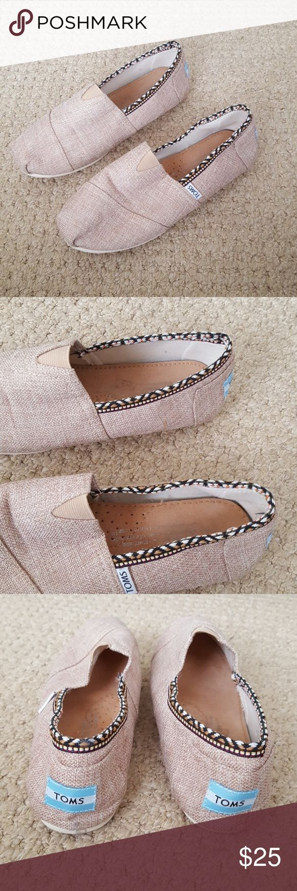 NWOT Burlap Toms Shoes Brand new condition! Toms Shoes Flats & Loafers