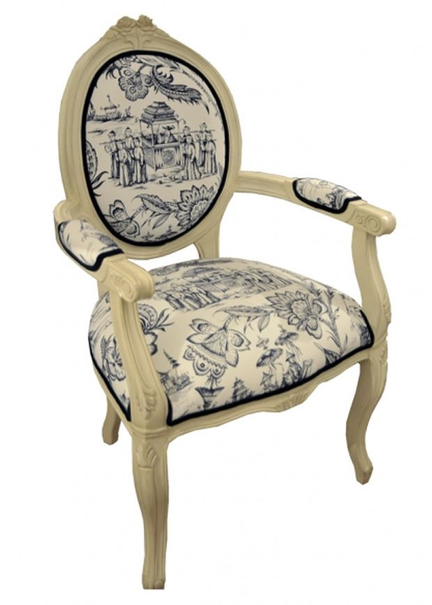 Contemporary And Unique Toile Armchair Design For Home