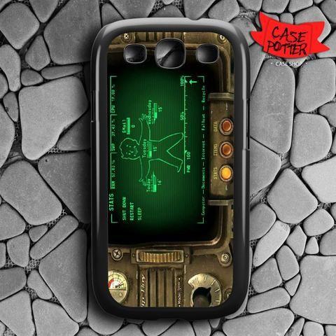 Fallout Pipboy Rainmeter Samsung Galaxy S3 Black Case