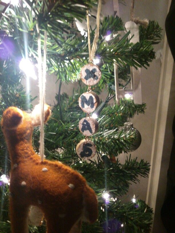 DIY Cork Christmas Ornaments