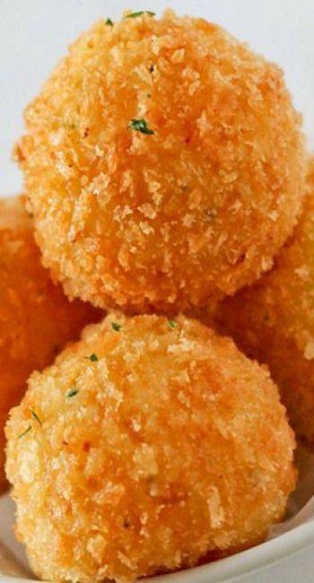 Potato Balls with Cheddar Cheese