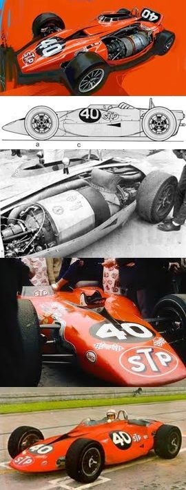The STP-Paxton Turbine Indy car known as 'Silent Sam', owned by Andy Granatelli.