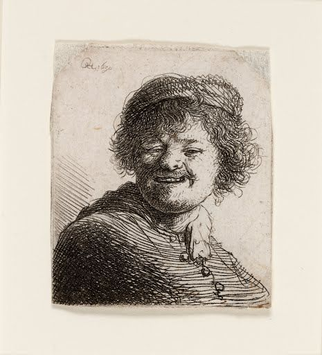 Rembrandt in a Cap, Laughing: Bust Rembrandt1630