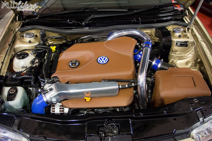 Vw Mk4 Golf  Engine Bay  Trimmed  Leather