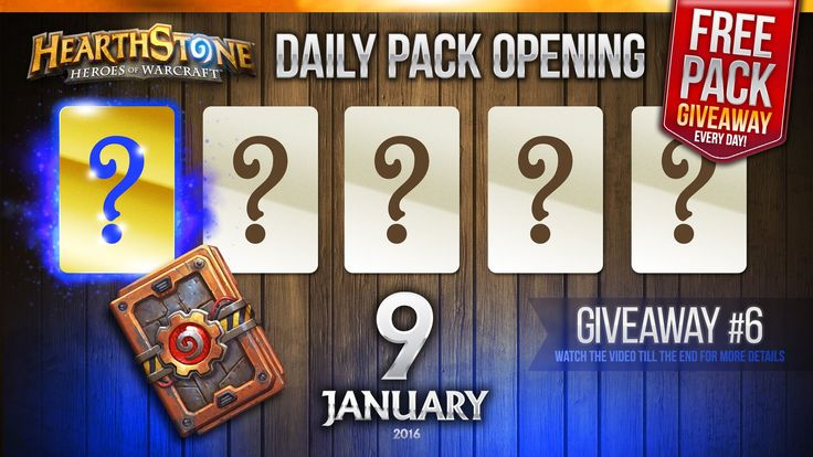 FREE Pack Giveaway #6 / 1 Golden Rare Hearthstone Card! Hearthstone Pack...