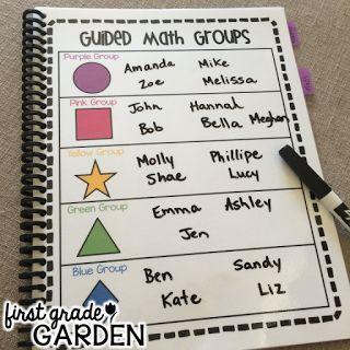 Running a Guided Math Lesson by First Grade Garden