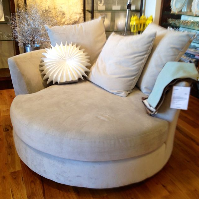 Called a cuddle chair and it rocks and swivels. Getting this for my space.
