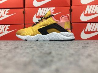 87590cafb71f Nike Air Huarache Run Ultra SE White Gold 859516-700 Women s Footwear  Running Shoes