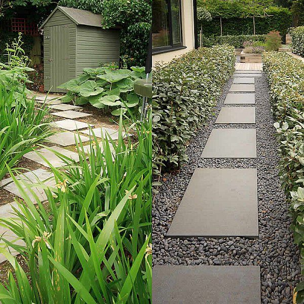 Beautiful Town Garden In Putney Design Includes Black Granite Stone Paving And Hard Wood Gates Landscape Design Garden Design Small Garden Design