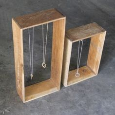 Necklace stands - box hanging style. Markets | Craft | Inspiration | Design | Ideas | Stall