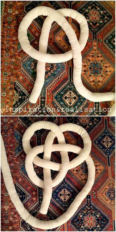 Celtic Knot Pillow Tutorial....ich werde es vielleicht aus alten Kinderstrumpfhosen machen....