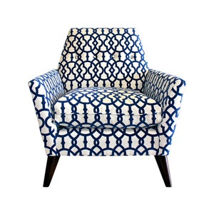 Porter chair Blue and White now featured on Fab.