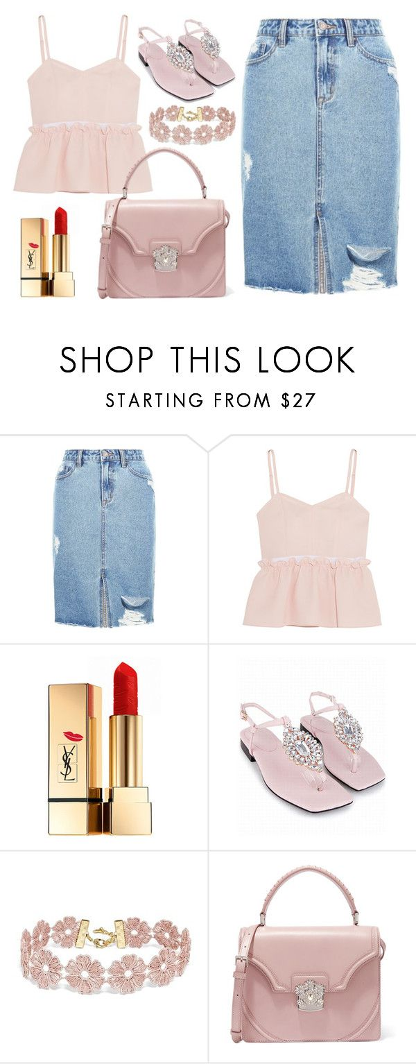 """""""Summer Love."""" by the-lost-dreams on Polyvore featuring New Look, Steve J & Yoni P, Yves Saint Laurent, BaubleBar and Alexander McQueen"""