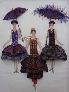 Gatsby Girls - Plum & Copper by Catherine Howell