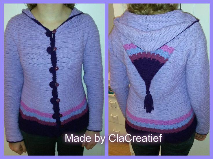 Made by ©ClaCreatief  Gehaakt vest van Stylecraft special dk. Het patroon is van Sylvie Damey