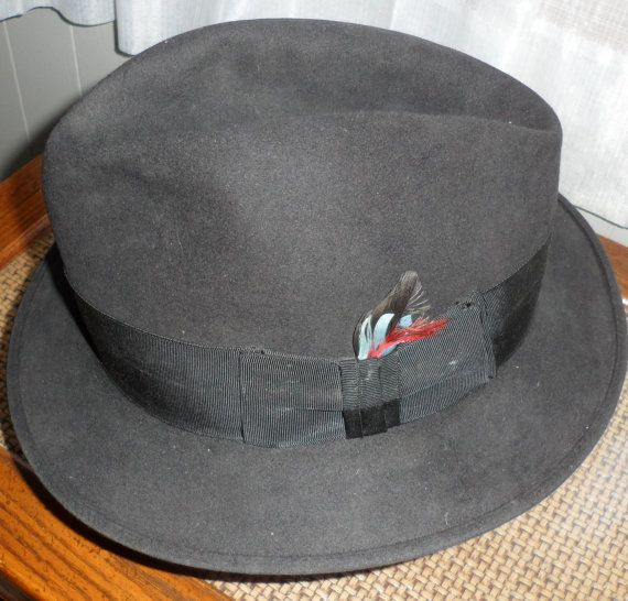 ****THIS HAT S O L D ...**** Vintage Charles Knox FEDORA/Canadian Beaver by BYGONERA on Etsy