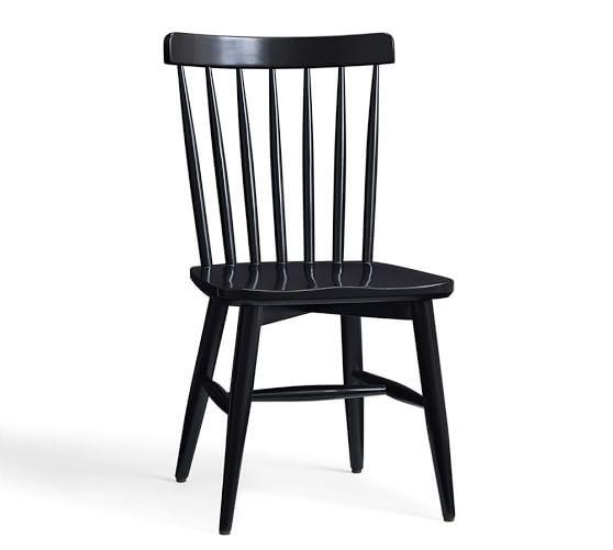 Tilden Spindle Back Side Chair | Pottery Barn - while the other dining chair from R&B is made in the USA, this is a fraction of the cost.  on sale for $135 each... i would do 4 and something different for the ends of the table