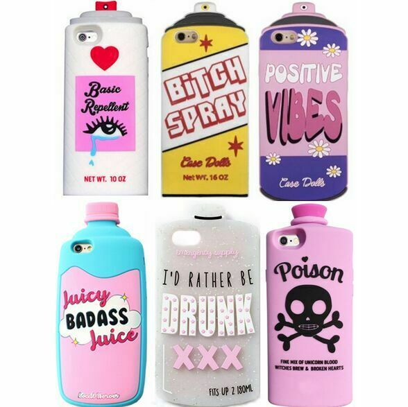 Fashion Spray Chic Liqour Drink Bottle Tank Soft Silicone Case For