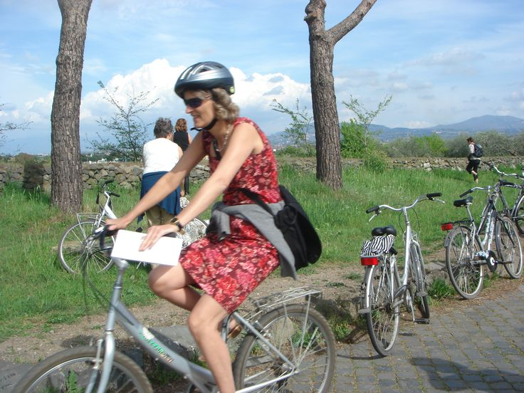 Biker on the Via Appia