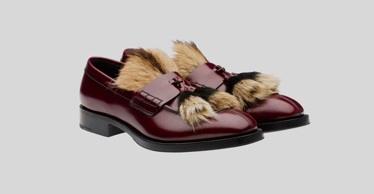 Would you buy this Fur Loafers by Prada? http://creativegentleman.com/prada-burgundy-calf-leather-loafers-with-fur-tassels/ Prada #prada #loafers #shoes #moccasins