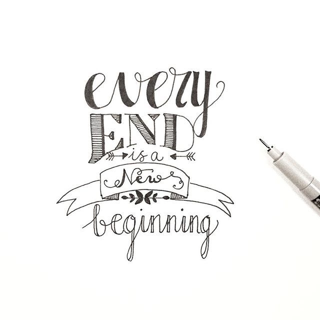 •every end is a new beginning• dag 29/31 @dutchlettering . . . #dutchlettering #handlettering #handlettered #lettering #moderncalligraphy #handmadefont #dailytype