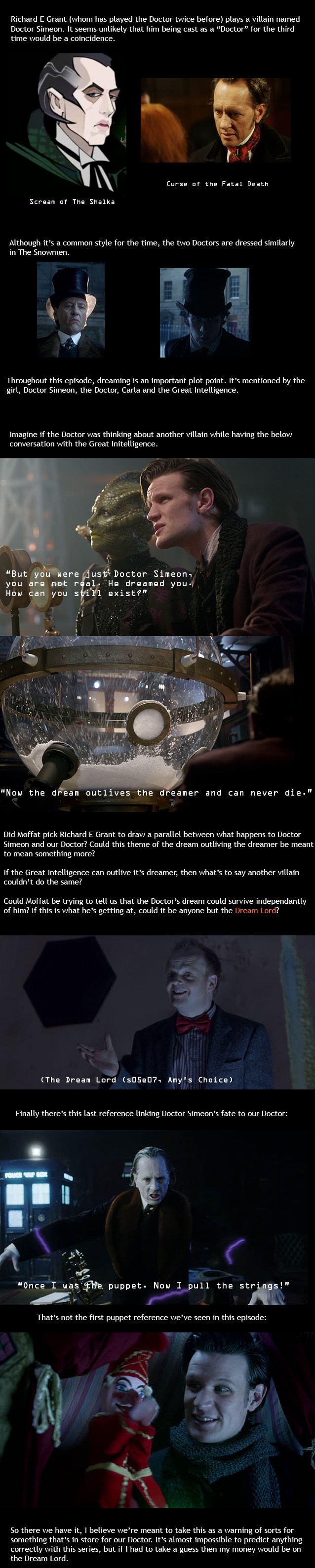 Here's an interesting theory; quite plausible too. Read more on the Dream Lord here: http://tardis.wikia.com/wiki/Dream_Lord.