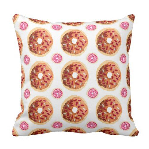 Cute Throw Pillows Pinterest : Cute Donut Pattern Throw Pillow Pillows Pinterest Donuts, Cute donuts and Throw pillows