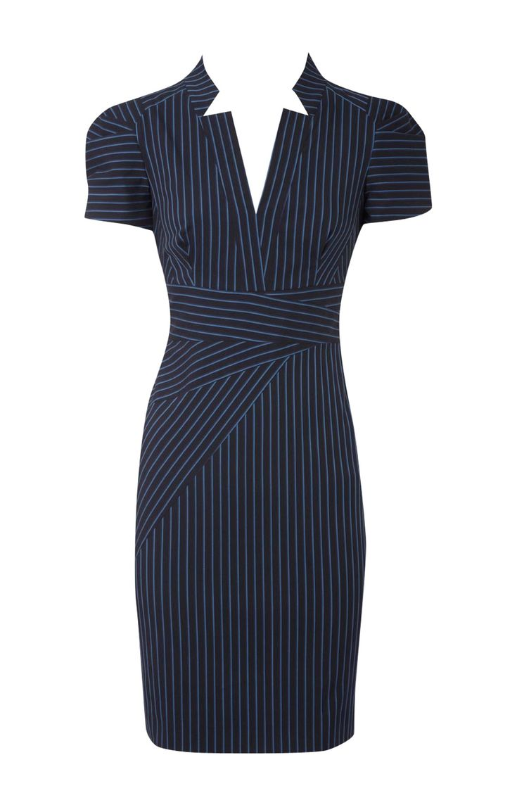 Karen Millen Multicolor Dress Blue Stripes
