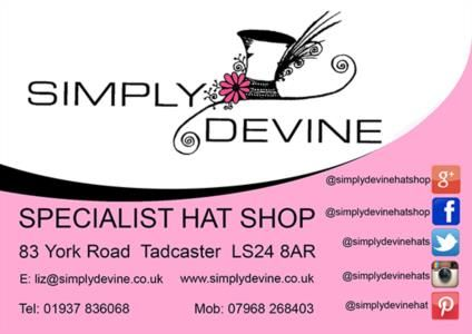 Simply Devine Hat Shop is a Wedding Supplier of Wedding Guest Dresses & Outfits. Are you planning your Big Day and looking for wedding items, products or services? Why not head over to MyWeddingContacts.co.uk and take a look at Simply Devine Hat Shop's profile page to see what they have to offer. Helping make your wedding day into a truly Amazing Day. Oh, and good luck and best wishes with your Wedding.